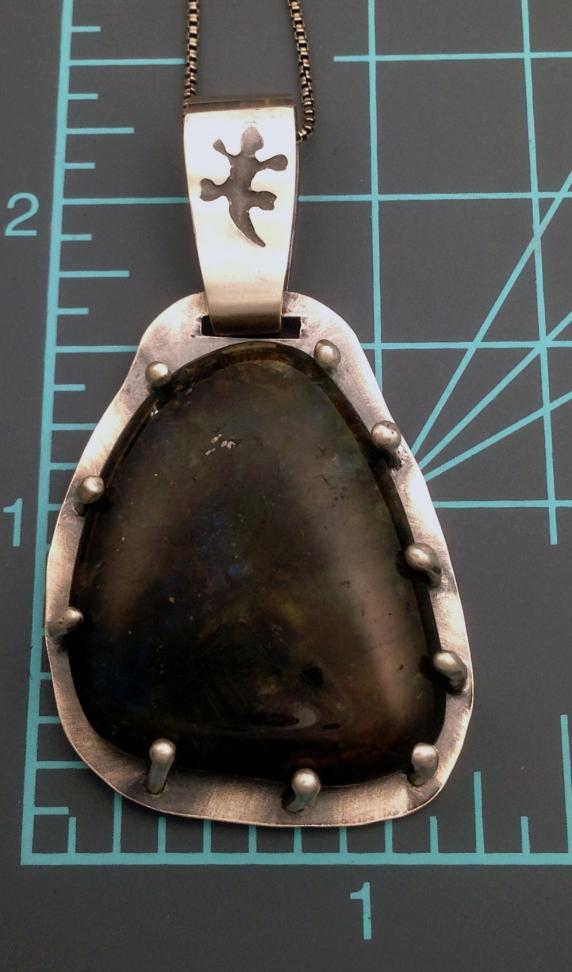 Labradorite Gecko Necklace Sibling Rivalry Artisans