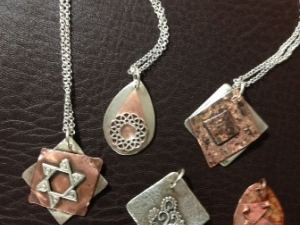 Necklaces from Intro to Soldering class